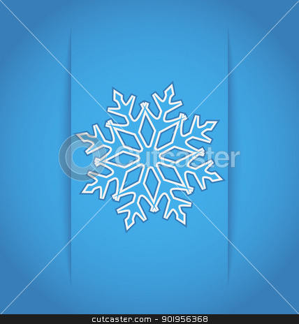 Template frame design with christmas snowflake - vector stock vector clipart, Illustration template frame design with christmas snowflake - vector by -=Mad Dog=-