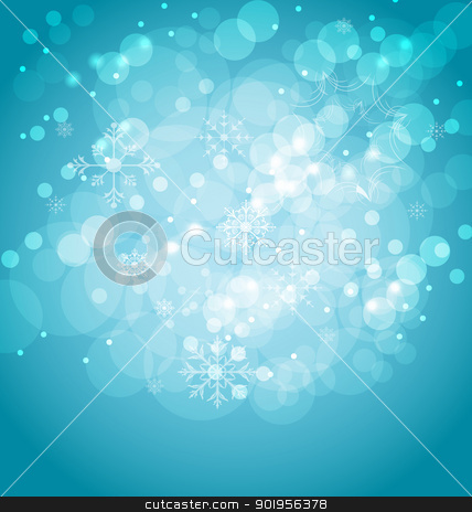 Christmas abstract background with snowflakes stock vector clipart, Illustration Christmas abstract background with snowflakes - vector by -=Mad Dog=-