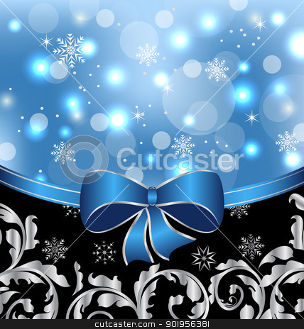 Christmas floral packing, ornamental design elements stock vector clipart, Illustration Christmas floral packing, ornamental design elements - vector by -=Mad Dog=-