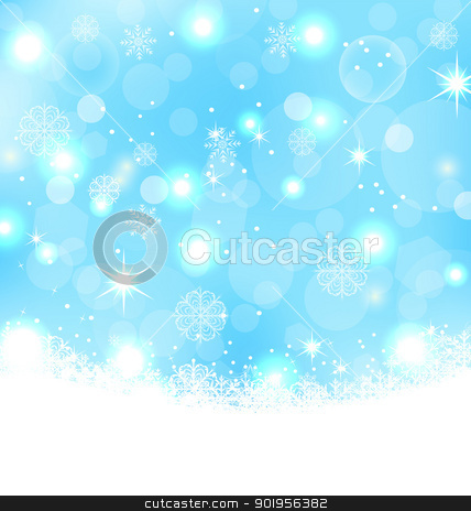 Christmas abstract background with snowflakes, stars stock vector clipart, Illustration Christmas abstract background with snowflakes, stars - vector by -=Mad Dog=-