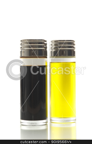 Olive Oil And Vinegar stock photo, Ingredient for salad by Matthias Krapp