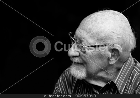 Thinking stock photo, Portrait from a old man by Picturehunter