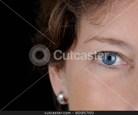 The look stock photo, Eye from a woman. Close up picture by Picturehunter