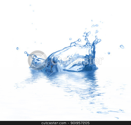 Splash stock photo, Water is splashing. Use it for concepts. by Picturehunter