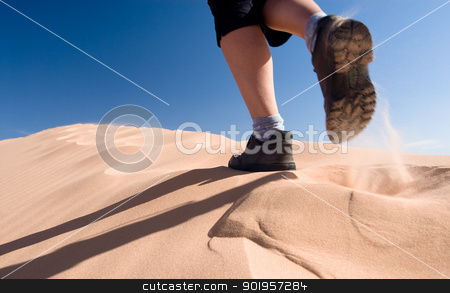 Hiking stock photo, USA. Utah. Kanab. Coral Pink Sand Dunes State Park. by Picturehunter