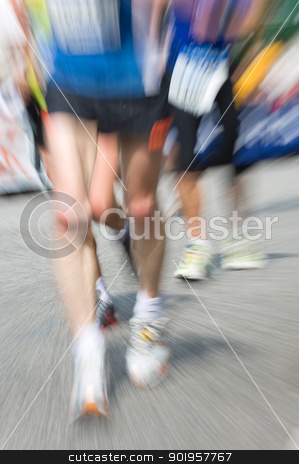 Just running stock photo, Marathon racer. Blur from the original shot by Picturehunter