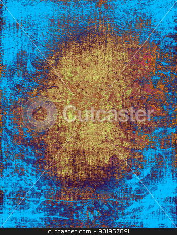 Blue grunge textured background  stock photo, Blue grunge textured background  by Nhan Ngo