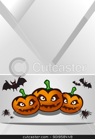 Halloween background stock vector clipart, Halloween background, vector illustration by Jupe