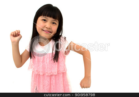 Cute Little Asian Girl Posing Runnung or Walking stock photo, Cute Little Asian Girl Posing Runnung or Walking by blueperfume