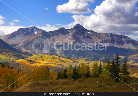 Rocky mountain peaks stock photo, Scenic landscape of rocky mountains in Colorado by Sreedhar Yedlapati