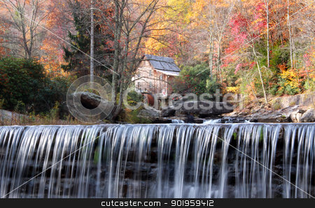 Babcock state park stock photo, Babcock state park in autumn time by Sreedhar Yedlapati