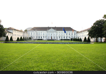 Castle Bellevue in Berlin stock photo, The Castle Bellevue, Residence of the Federal President of Germany in Berlin, Germany. by Michael Osterrieder