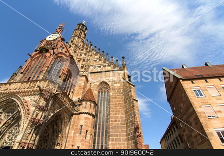The Frauenkirche in Nuremberg stock photo, The Frauenkirche (Church of Ladies) in Nuremberg, Bavaria, Germany. by Michael Osterrieder