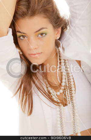 flawless complexion stock photo, beautiful young woman with flawless skin and complexion by mandygodbehear