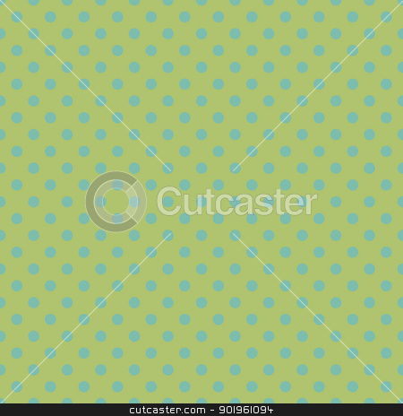 Polka Dot Background Wallpaper stock photo, Aqua polka dots on soft green by SongPixels