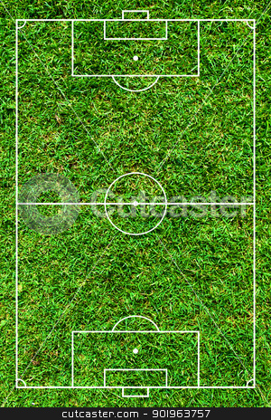 Football or soccer green field stock photo, Football or soccer green field by jakgree