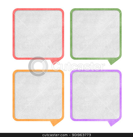 Paper texture ,Talk tag on white background stock photo, Paper texture ,Talk tag on white background by jakgree