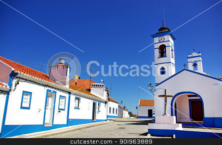 Santa Susana village. stock photo, Santa susana village, alentejo region, Portugal. by Inacio Pires