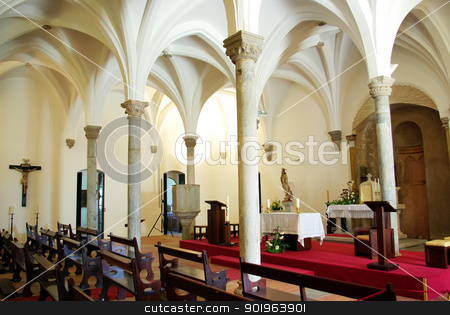 Interior of Mertola church, Portugal. stock photo, Interior of Mertola church, Portugal. by Inacio Pires