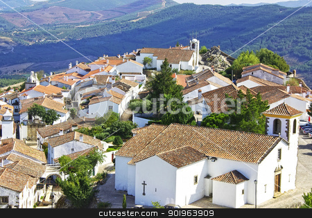 Landscape of Marvao,old village, Portugal. stock photo, Landscape of Marvao,old village, Portugal. by Inacio Pires