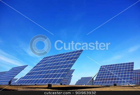 Central of photovoltaic panels stock photo, Central of photovoltaic panels by Inacio Pires