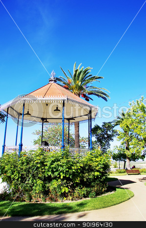 Portuguese  bandstand in old city of Moura stock photo, Portuguese  bandstand in old city of Moura by Inacio Pires