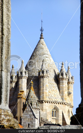 Tower of Evora Cathedral , Portugal  stock photo, Tower of Evora Cathedral , Portugal  by Inacio Pires