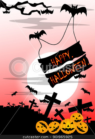 happy halloween stock photo, happy and fear celebrate of festival halloween