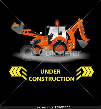Under construction alert stock vector clipart, Under construction alert illustration by Vladimir Repka