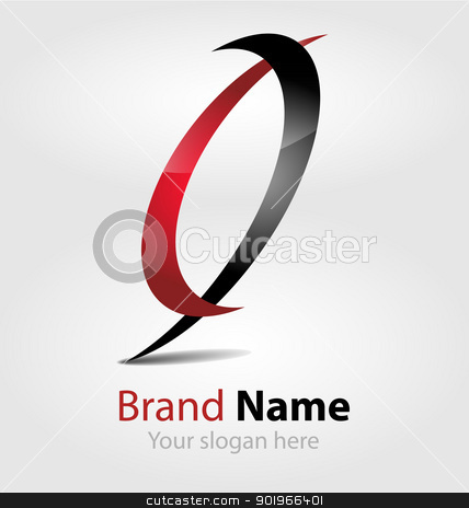 Brand red-black logo 	Brand red-black logo  stock vector clipart, Originally designed vector brand red-black logo by Vladimir Repka