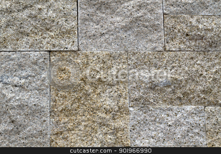 Stone Background stock photo, Texture of stone brick background  by Ingvar Bjork