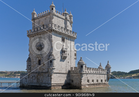 Tower of Belem in Lisbon stock photo, Tower of Belem in Lisbon Tagus Estuary by paulrommer