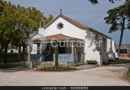 little old Portuguese church stock photo, little old Portuguese church in the village of Cascais by paulrommer