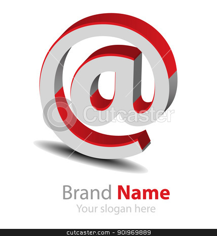 Vector brand red-grey3D logo stock vector clipart, Originally designed vector brand red-grey3D logo by Vladimir Repka