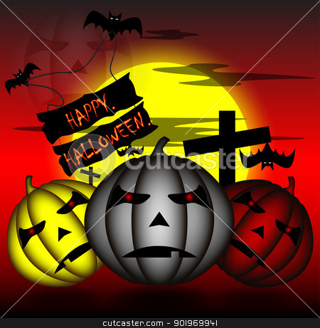 happy halloween stock photo, happy and fear celebrate of festival halloween  by Cherdchoosak Ngernsiam