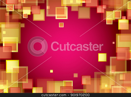 Square warm frame stock vector clipart, Red abstract background with warm square element frame by Michael Travers