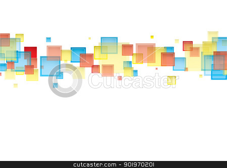 White rainbow backgrop stock vector clipart, White background with rainbow abstract sqaure design ideal for presentation by Michael Travers