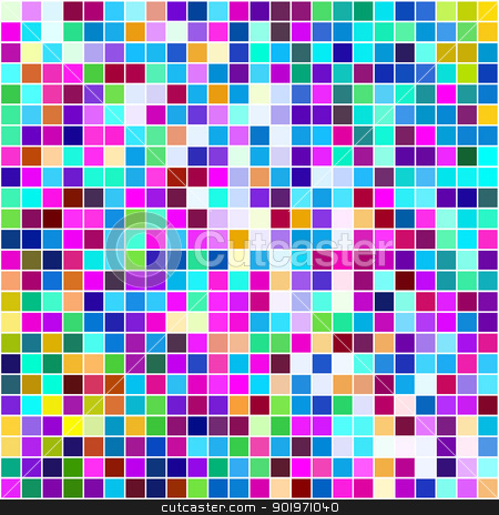 Multicolored small squares background. stock photo, Multicolored small squares background. by Stephen Rees