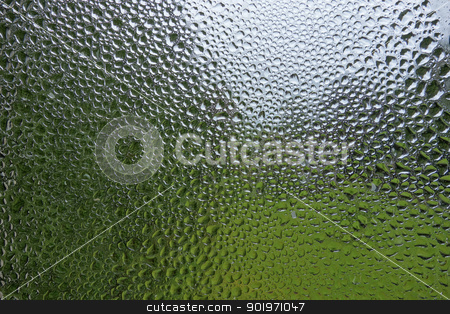 Water condensation and rain drops pattern on a window. stock photo, Water condensation and rain drops pattern on a window. by Stephen Rees