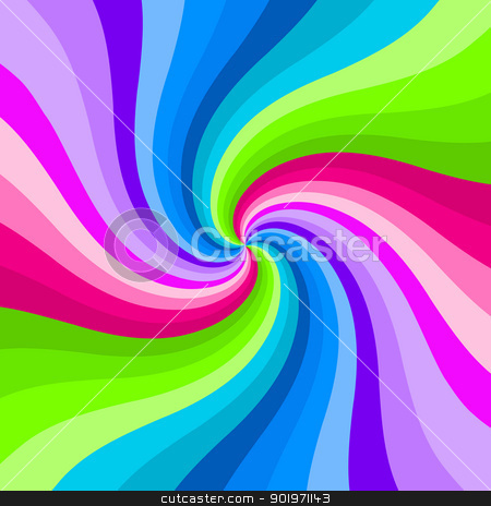 Hypnotic color swirl background. stock photo, Hypnotic color swirl background. by Stephen Rees