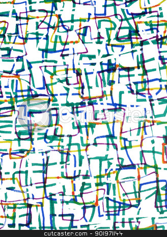 Abstract colorful felt tip marker pen drawing. stock photo, Abstract colorful felt tip marker pen drawing. by Stephen Rees