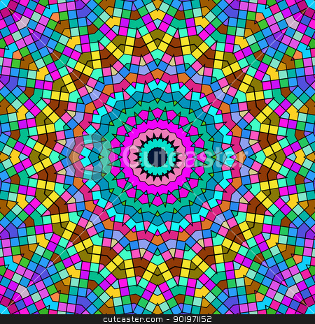Bright colorful kaleidoscope pattern. stock photo, Bright colorful kaleidoscope pattern. by Stephen Rees