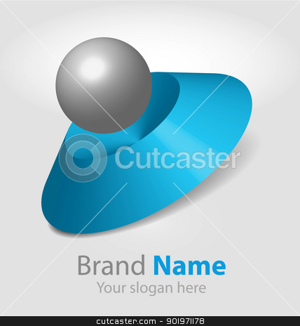 Vector abstract logo  stock vector clipart, Vector abstract logo design (3D) by Vladimir Repka