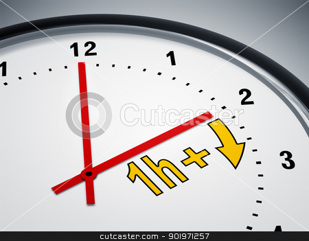 daylight saving time stock photo, An image of a nice clock showing daylight saving time by Markus Gann