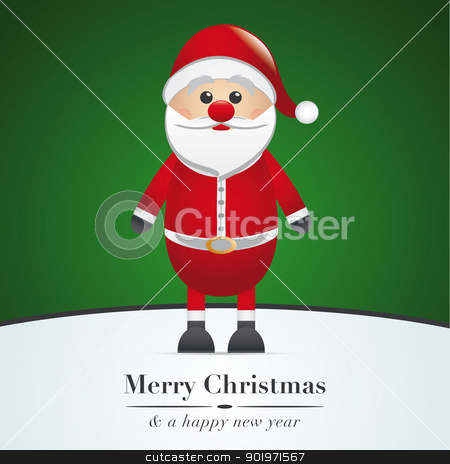 santa claus merry christmas type green stock photo, santa claus merry christmas type green background by d3images