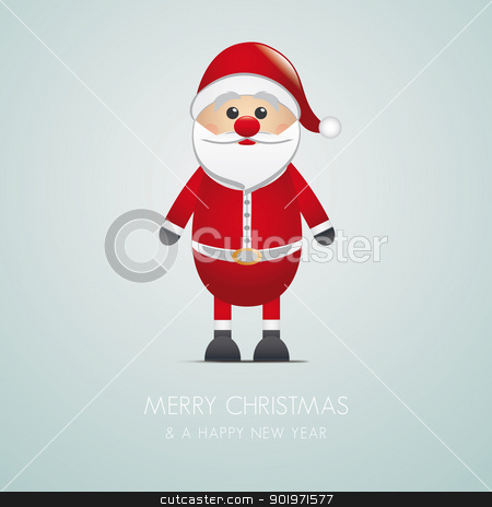 santa claus merry christmas stock photo, santa claus merry christmas type blue background by d3images
