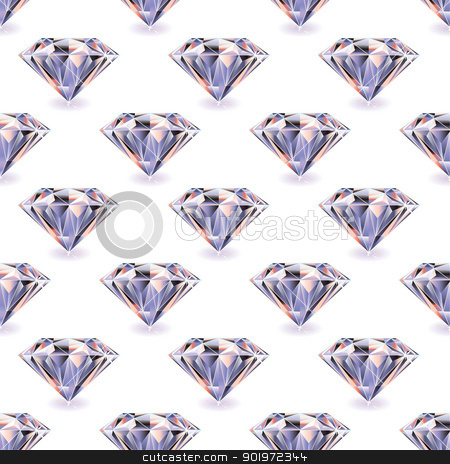 Diamond seamless repeat stock vector clipart, Seamless tile background with repeat diamond design by Michael Travers