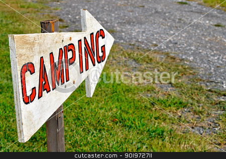 Camping Sign stock photo, Camping Sign by Liane Harrold