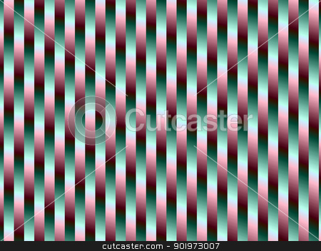 Green and Purple Stripes stock photo, Digital abstract background image with a striped design in green and purple. by Colin Forrest