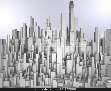 3d city blueprint  stock photo, 3d city blueprint  by carloscastilla